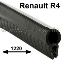 R4, Seal rubber on the splash wall - front wall (seal bonnet rear). Suitable for Renault R4. Length: 1220mm. - 87046 - Der Franzose
