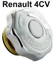 4CV, radiator cap (chromium-plates). Suitable for Renault 4CV. Or. No. 5400579 - 82467 - Der Franzose