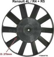 R4/R5, fan blade 270mm diameter. 10 sheets. Suitable for Renault R4 + R5. Or. No. 7700640736 - 82477 - Der Franzose