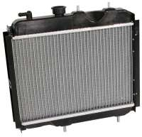 Radiator 1 version (original supplier) Renault R4. Installed to year of construction 1973, with engines type Billancourt. The radiator fixed directly before the engine block. Deep 40mm, wide one 395mm, height of 340mm. -1 - 82935 - Der Franzose