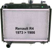 Radiator 2 version (original supplier) Renault R4 + R6. Installed of year of construction 1973 to 1986, with engines type Billancourt. The radiator fixed directly before the engine block. Deep 50mm, wide one 395mm, height of 340mm. The radiator is supplied without radiator caps. Please order it (82993) - 82049 - Der Franzose