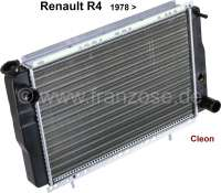Radiator (reproduction) Renault Renault R4 starting from 1978, with engines with 947ccm + 1108ccm, type Cleon. Renault R5. The radiator is mounted directly behind the radiator grill. Deep 34mm, wide one 440mm, height of 278mm. - 82159 - Der Franzose