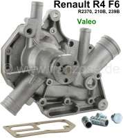 Water pump, suitable for Renault R4 F6 station car (R2370, 210B, 239B). For 1108ccm engine. The water pump is supplied without belt pulley. Made one in Germany! - 82066 - Der Franzose