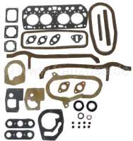 Dauphine, engine gasket set, inclusive cylinder head gasket. Suitable for Renault Dauphine, starting from year of construction 1956 (845cc, 5CV, R1090, R1090A, R2101) - 81015 - Der Franzose