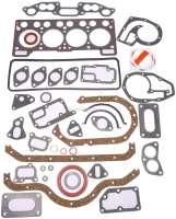 Estafette/R12, engine gasket set completely, inclusive cylinder head gasket. Suitable for Renault Estafette 1.3, to engine number 212538. Renault R12 1,3. Used in engines: 810 01, 810 02, 810 2/97, 810 6, 810 10, 810 5.   81306   Der Franzose - www.franzose.de