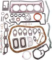 R12/R16/R17, engine gasket set completely, inclusive cylinder head gasket. Suitable for Renault R16, R12, R17. Engine: 807 03, 807 04, 807 05, 807 10. Engine capacity: 1565cc. Bore: 77mm. - 81301 - Der Franzose