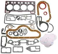 R4, Engine gasket set completely, inclusive shaft seals. Engine: 813. Suitable for Renault R4 FASA (852cc), of year of construction 1972 to 1975. Bore: 61,4mm. - 81002 - Der Franzose