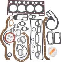 R4, Engine gasket set completely, inclusive shaft seals. Suitable for Renault R4, Super (956cc). Renault R5. - 81004 - Der Franzose