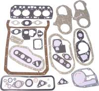 R4, engine gasket set completely, without shaft seals. Engine: 680, 839-06. Suitable for Renault R4 (747cc, 782cc, 845cc), from year of construction 1961 to 1982. Bore: 49 + 54.5 + 55,8 + 58mm. - 81000 - Der Franzose