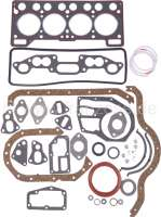 R4/R5, engine gasket set completely, inclusive shaft seals. Engine: C1C + 688 C1E-714/718,(955cc + 1108cc). Suitable for Renault R4. Renault R5 TL. Bore: 65 + 70mm. - 81003 - Der Franzose