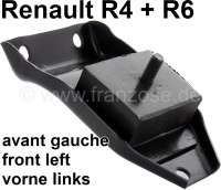 R4, Engine suspension, in front on the left. Suitable for Renault R4 (R1123, R1126, R1129, R2106, R2391, R2392), of year of construction 1976 to 1982. R4 (R1123, R2106, R2391) starting from year of construction 1983. Renault R6, to year of construction 1970. | 81030 | Der Franzose - www.franzose.de