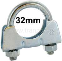 Exhaust clamp clip for 32mm pipe (elbow pipe into the silencer). Suitable for Renault R4, R5, R6. - 82137 - Der Franzose