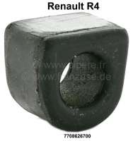 R4, anti roll bar rubber (per piece). Suitable for Remault R4. Securement the anti roll bar at the body! Have caution, the rubbers always about 15 - 16mm inside diameters. By the attach wirh the retaining clamp, fits the diameter. - 83031 - Der Franzose