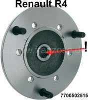 R4/R5, wheel hub front (fine-tooths). Suitable for Renault R4 + R5, with front disc brake. - 83039 - Der Franzose