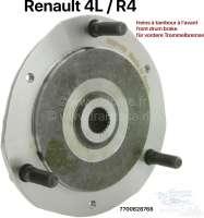 R4, wheel hub (wheel plate) front. Suitable for Renault R4, with front drum brake. Diameter: 180mm. - 83044 - Der Franzose