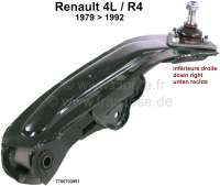 R4, Wishbone down on the right. Suitable for Renault 4, starting from year of construction 1979. Or. No. 7700703951 - 83037 - Der Franzose