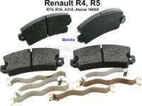 Brake pads front (1 set). Brake system: Bendix. Suitable for Renault R4, R5, R16, R15, Alpine A310, R12, Alpine 1600S. Wide one: 108,9mm. Amount: 49mm. Heavy one: 14,0mm. Reproduction - 84048 - Der Franzose
