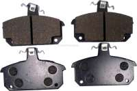 Brake pads front (1 set). Brake system: Lucas Girling. Suitable for Renault R5 Alpine + Alpine Turbo. Renault R12, R18. Wide one: 99,5mm. Amount: 64,1mm. Heavy one: 16mm. | 84141 | Der Franzose - www.franzose.de