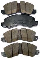 Brake pads, system Bendix. Suitable for Renault 20, R30, Trafic. Alpine A310. Wide one: 156mm. Heavy one: 18,5mm. Amount: 53,5mm - 82208 - Der Franzose