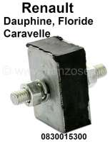 Caravelle/Floride/Dauphine, silent block (square), for the shift linkage. Suitable for Renault Dauphine, Caravelle + Floride. Or. No. 0830015300 - 82465 - Der Franzose