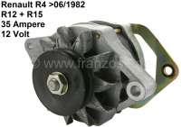 Generator Renault R4, to year of construction 06/1982. External battery charging regulator. Also suitable for Renault R12 + R15. 12 V. 35 ampere. Assembly position: 20°. | 82113 | Der Franzose - www.franzose.de