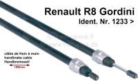Hand brake cable. Suitable for Renault R8 Gordini, starting from Ident. No. 1233. Length totally: 1950mm. Sleeve: 880 + 850mm. Or. No. 8558990 - 84348 - Der Franzose