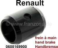 Guide (from synthetic) for hand brake lever. Suitable for all Renault, with the hand brake lever under the dashboard. Renault R4, R5, 6, R12, R16, Estafette. Or. No. 0608169900 - 84367 - Der Franzose