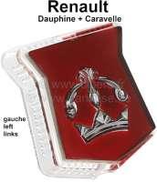 Cap on the left, for park light (position light) at the fender. Suitable for Renault Dauphine + Caravelle. - 85382 - Der Franzose