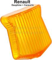 Cap, for park light (position light) at the fender. Colour: orange. Suitable for Renault Dauphine + Caravelle. - 85413 - Der Franzose