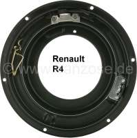 R4, headlamp casing (headlight fixture), made of metal. Suitable for Renault R4. - 85071 - Der Franzose