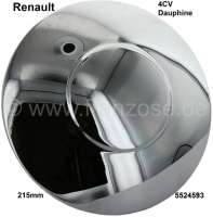 4CV/Dauphine, wheel cover chromium-plated, for star rim. Suitable for Renault 4CV + Dauphine. Diameter: 215mm. Or. No. 5524593 - 83374 - Der Franzose