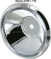 Alpine, wheel cover chromium-plates. Suitable for Renault Alpine A108 + A110 - 83400 - Der Franzose