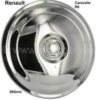 Caravelle/R8 wheel cover. Suitable for Renault Caravelle + R8. Diameter: 265mm. - 83376 - Der Franzose