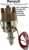 Full electronic ignition for VENTOUX/BILLANCOURT engines (3 crankshaft bearing). Without vacuum connection! Suitable for Renault 4CV (apart from engine 662-2), Dauphine (apart from engine 670-02), Jucaquatre, Caravelle, Estafette, Alpine A108, Renault R3, R4 early year of construction, R5 early years of construction. Engine capacity 603cc, 748cc, 782cc, 845cc. This ignition fits for the following engines: B1B, 800, 839, 680. This ignition renews the following distributors: R287, D83, R284, R285, R240, R252, R253, A46. - 82999 - Der Franzose