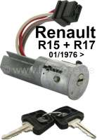 Starter lock. Suitable for Renault R15 + R17, starting from year of construction 01.01.1976. Original manufacturer Neiman. No reproduction. Neiman No. 013011. - 83371 - Der Franzose