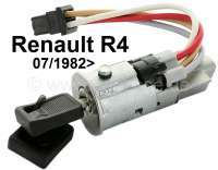Starter lock (short version). Suitable for Renault R4, starting from year of construction 07/1982. Renault R9, R11, Trafic. Length over everything: 83 mm. Reproduction - 83222 - Der Franzose