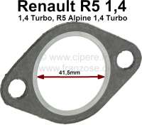 Seal Y-pipe. Suitable for Renault R5 1.4 + 1.4 Turbo. R5 Alpine 1.4 Turbo. Per piece! Inside diameter: 41,5mm. - 80115 - Der Franzose