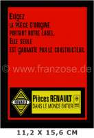 Label Renault