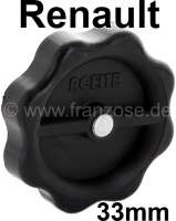 Oil-fill in cap, 33 mm. Suitable for Renault R4, R5, R6, R8, R10, R12. - 80167 - Der Franzose