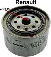 Oil filter LS144B. Suitable for Renault R8, R10, R12, R16, R15TL, R17TS, Fuego, R18, R20, R25. Connecting thread: 3/4 x 16 - 81282 - Der Franzose