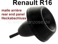 R16, rubber buffer on the rear end panel (luggage compartmend lid). Suitable for Renault R16. Or. No. 0608214100 + 7700554557 | 87854 | Der Franzose - www.franzose.de