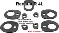 R4, Door handle + luggage compartment handle rubber underlays (5 item). For door handles made of metal. Suitable for Renault R4. Made in Germany. - 87320 - Der Franzose