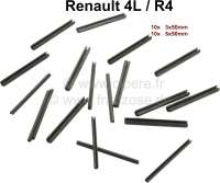 R4, Dowel pins for the door hinge. Suitable for Renault R4. Dimension: 3x50mm + 5x50mm. Package contents: ever 10 item! - 87273 - Der Franzose