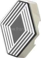 R4, Renault emblem for radiator grill from aluminum. Suitable for Renault R4. Or. No. 7700563306 | 87701 | Der Franzose - www.franzose.de
