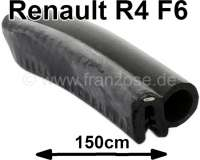 R4, Head flap seal short (about 150cm). Suitable for Renault R4 F6. - 87307 - Der Franzose