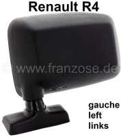 R4, Mirror on the left (plastic housings, black). Suitable for Renault R4, final version. Reproduction. | 87180 | Der Franzose - www.franzose.de