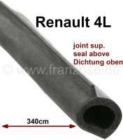 R4, tailgate (hatchback) seal above. Suitable for Renault R4 sedan. Overall length: about 340cm. Original supplier. No standard profile! - 87203 - Der Franzose