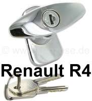 R4, Tailgate lock outside, chromium-plates. Suitable for Renault R4 - 87286 - Der Franzose