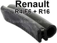 R4/R16, head flap seal long, for Renault R4 F6. Luggage compartment seal for R16. For the R4 F6, you need about 400cm. For the R16 about 400cm. Price by meters! Customer cut, return not possible! - 87308 - Der Franzose