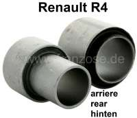 R4, bonded-rubber bushing (2 fittings) for the bearing of the rear axle rocker (per side). Suitable for Renault R4. - 83030 - Der Franzose